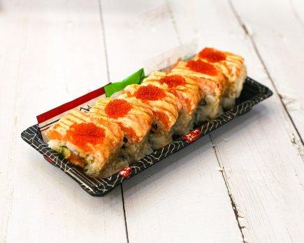 Sushi Roll: Salmon Aburi (6pc)