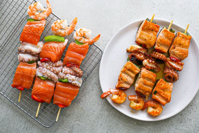 Seafood Kebab (Uncooked, Sold Each)