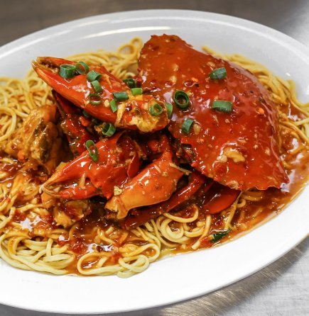 Cooked Live Mud Crab with noodle (min900gr)