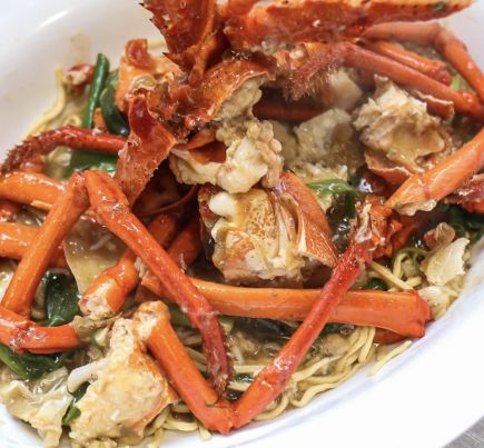 Cooked Live Southern Rock Lobster with Noodles (1.1 - 1.5kg)