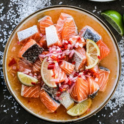 Uncooked - Marinated Diced Salmon Salsa (500g)