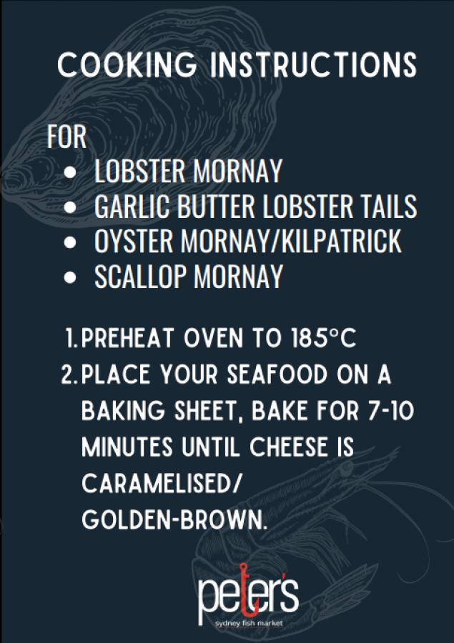Oyster Mornay (Half Dozen) (UNCOOKED)