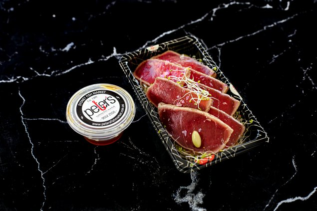 Tuna Tataki (w/ home made sauce)