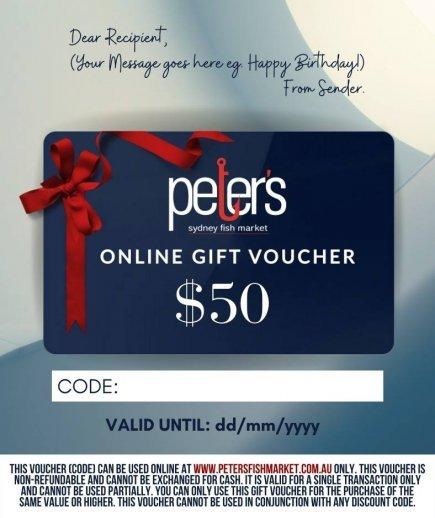 Peter's Online Gift Voucher
