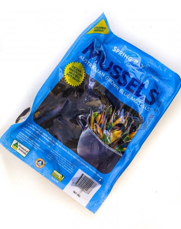 Spring Bay Black Mussels (1Kg Pack)