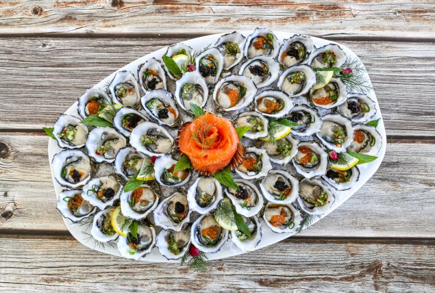 Peter's Marinated Oyster Platter